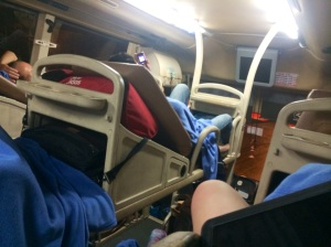 A local sleeper bus. Looks comfy, right?